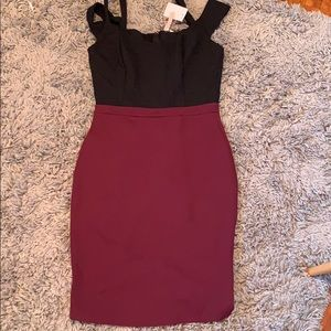A cute two toned dress for a night out!